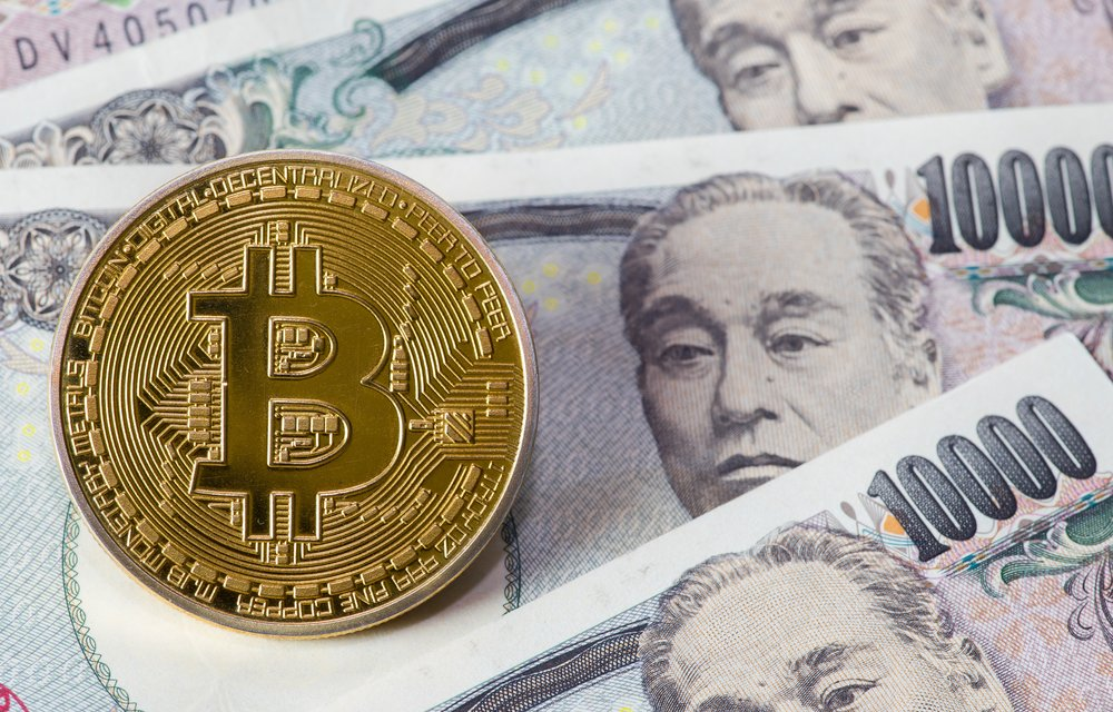 japanese yen bank not with bitcoin on top of it