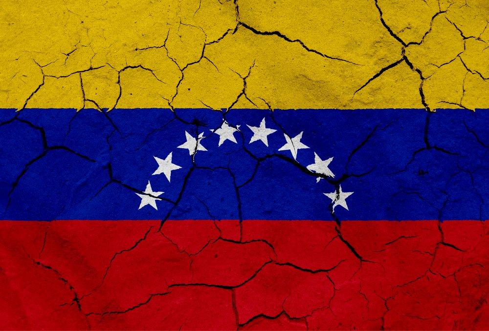 cracked Venezuela flag