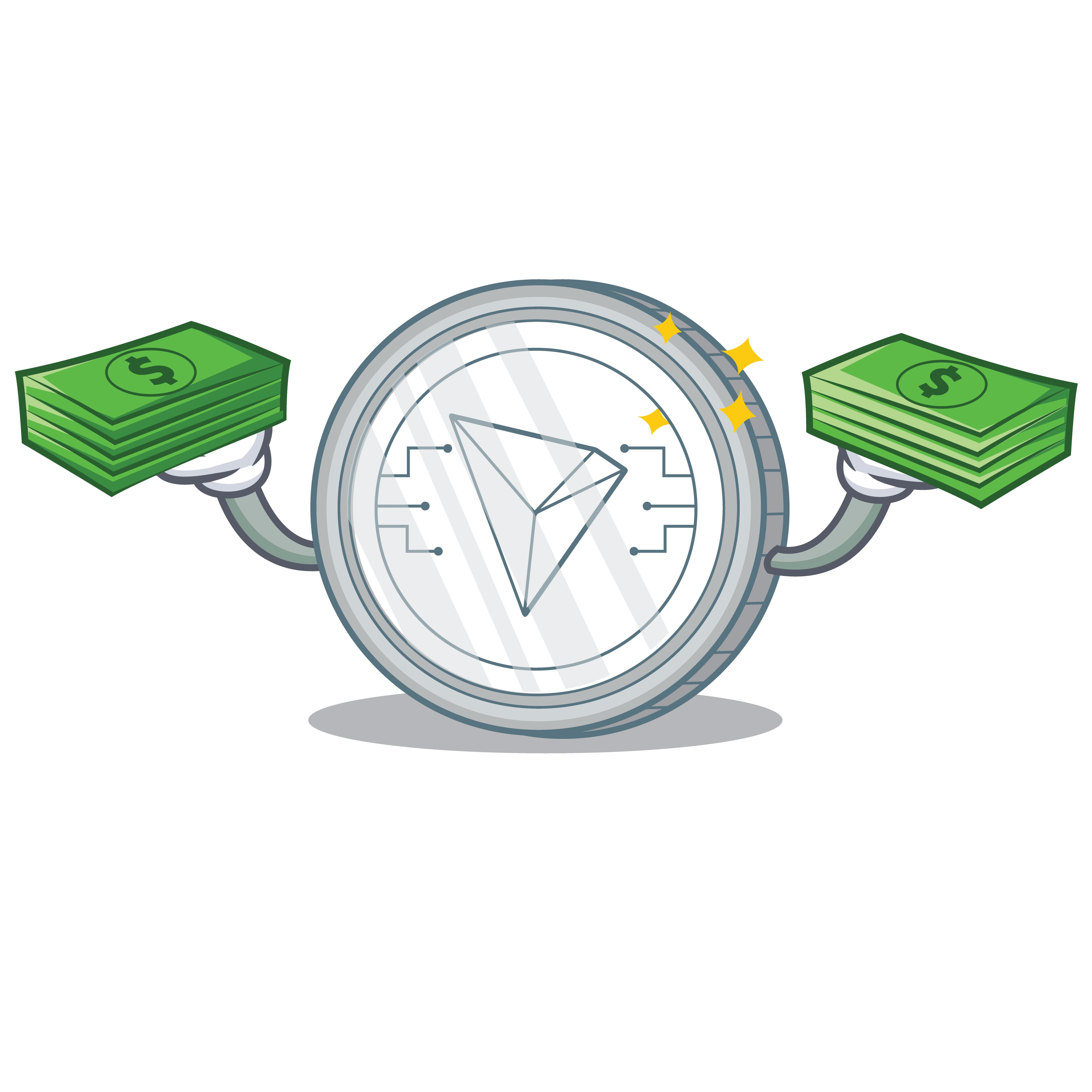 tron coin with dollars