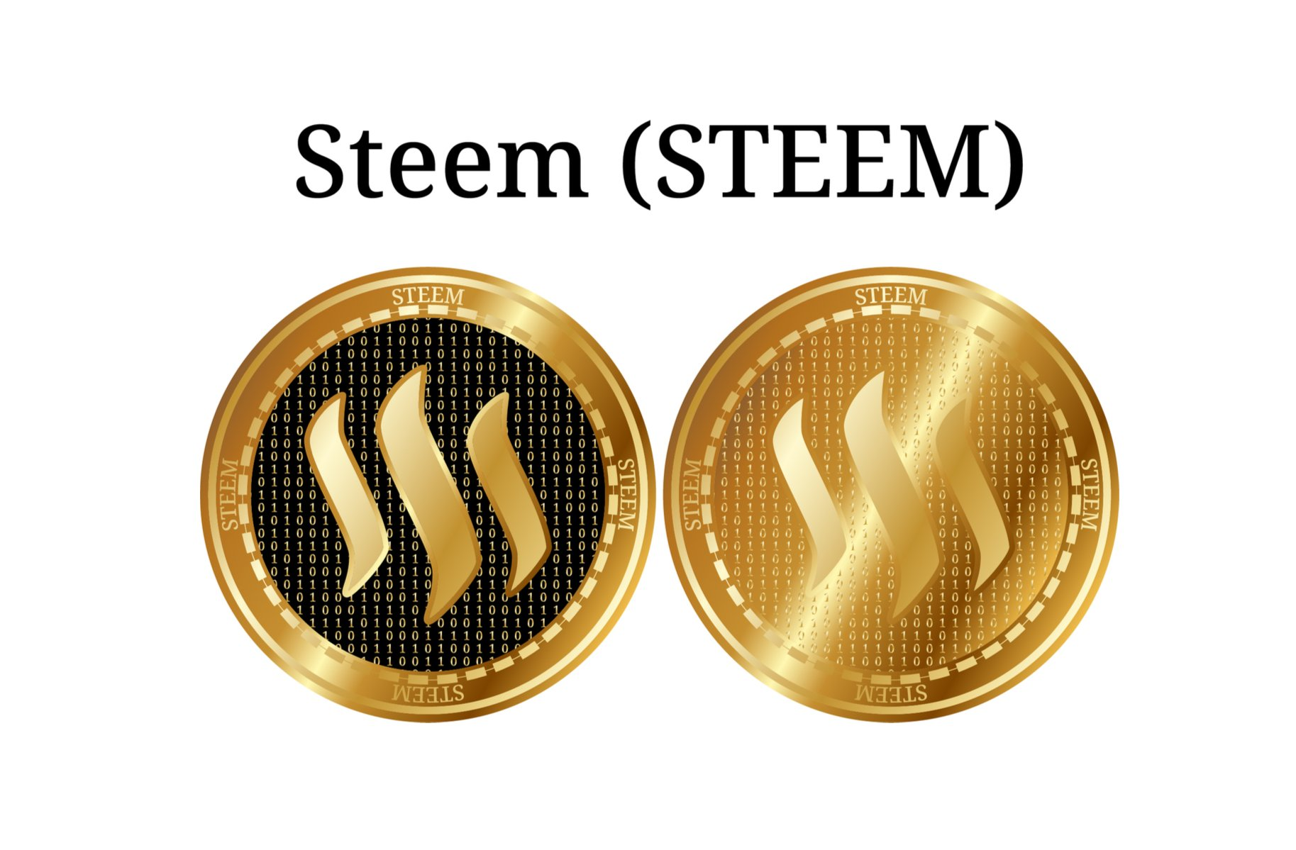 golden STEEM coins
