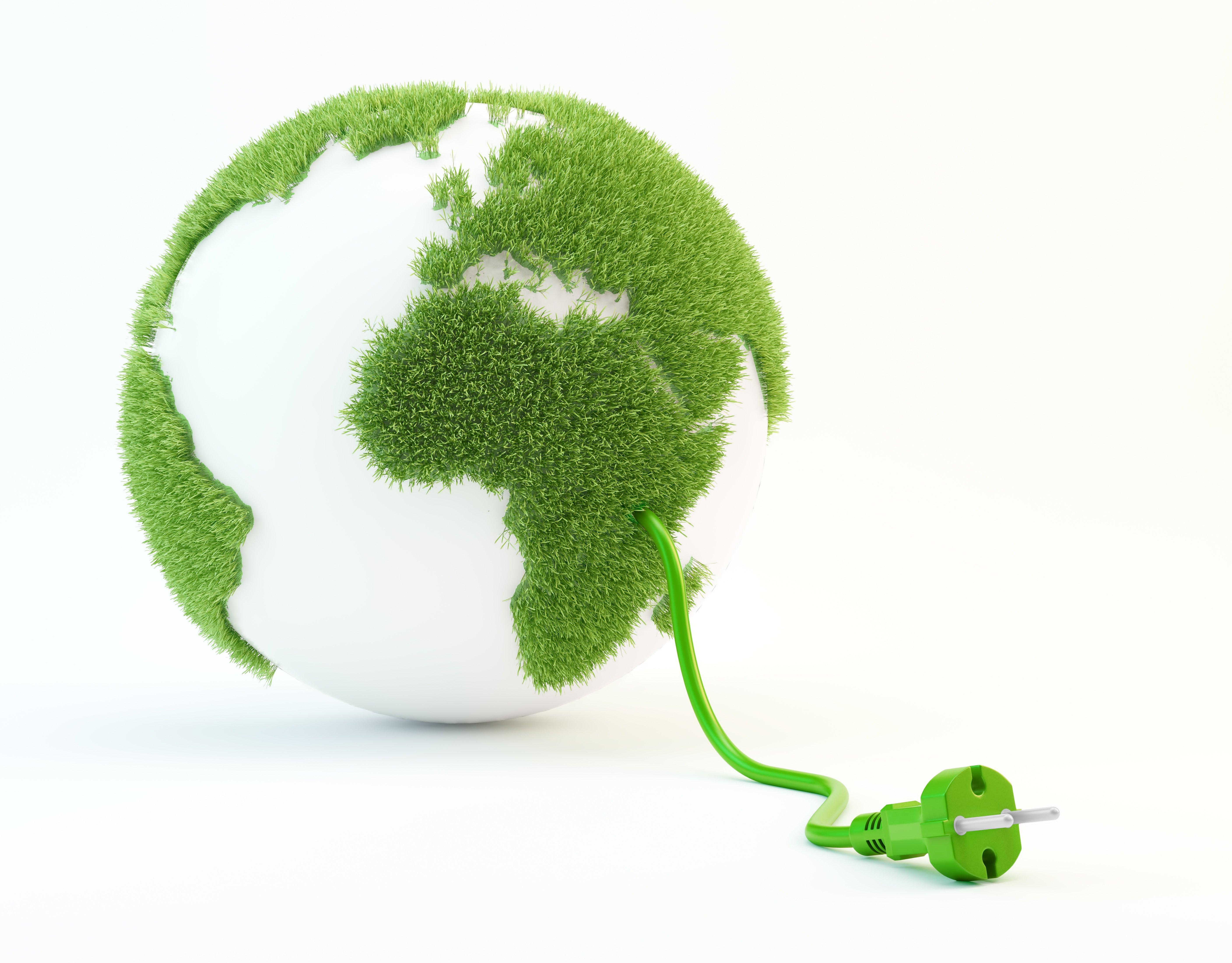 clean energy globe concept