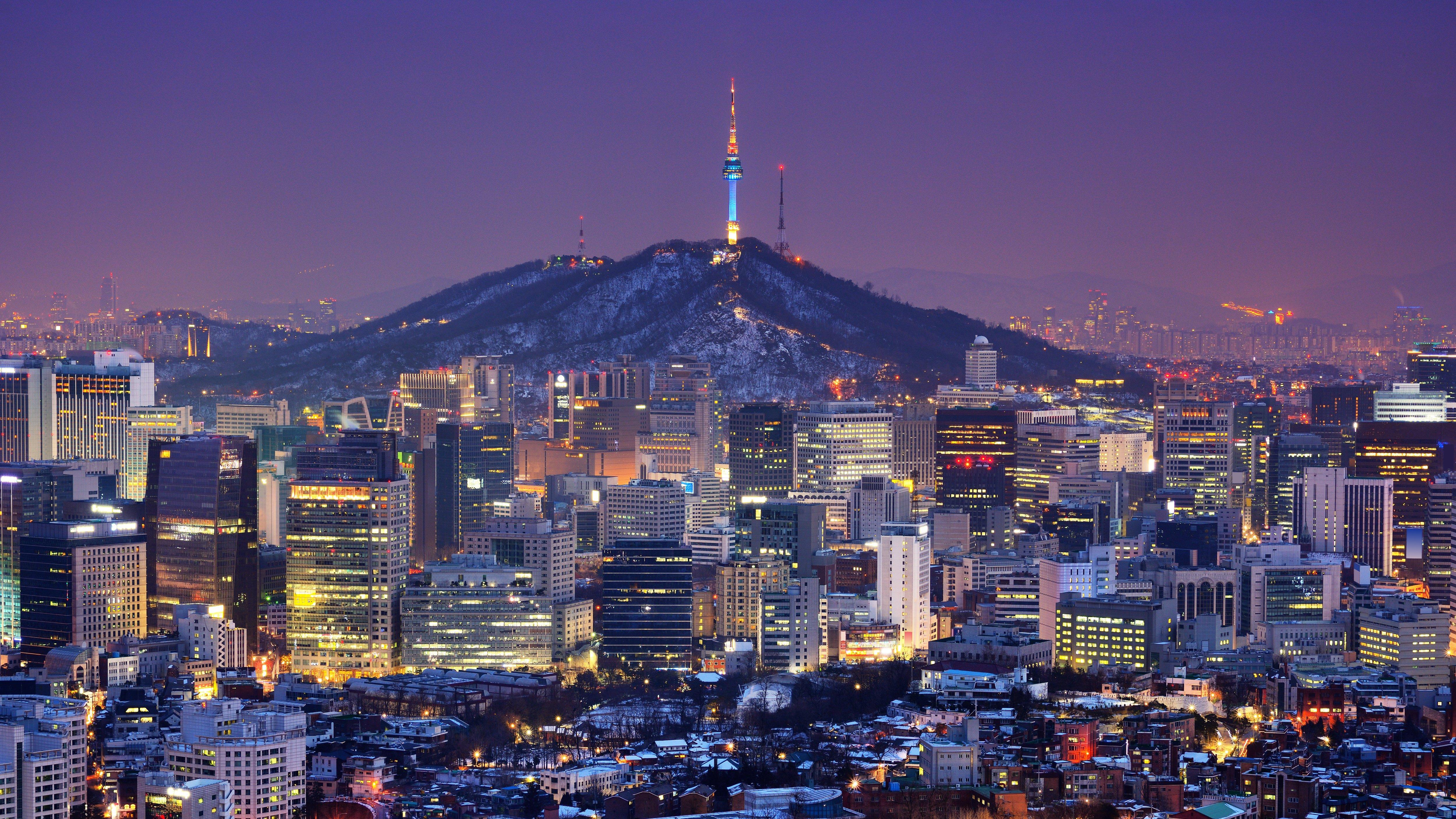 Downtown skyline of Seoul