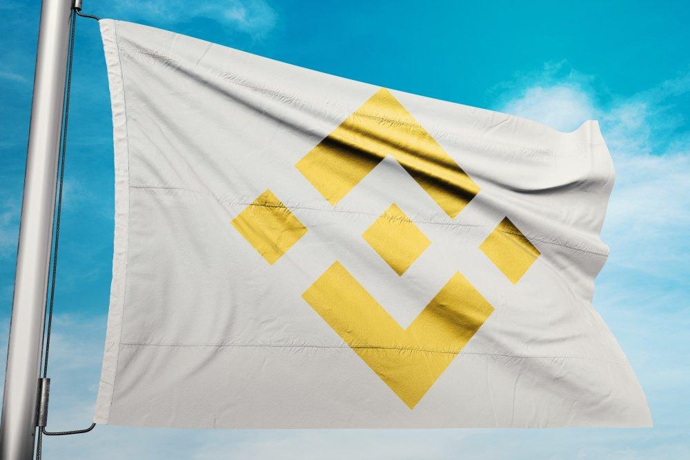 Binance flag waving