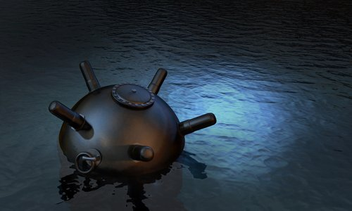 floating sea mine
