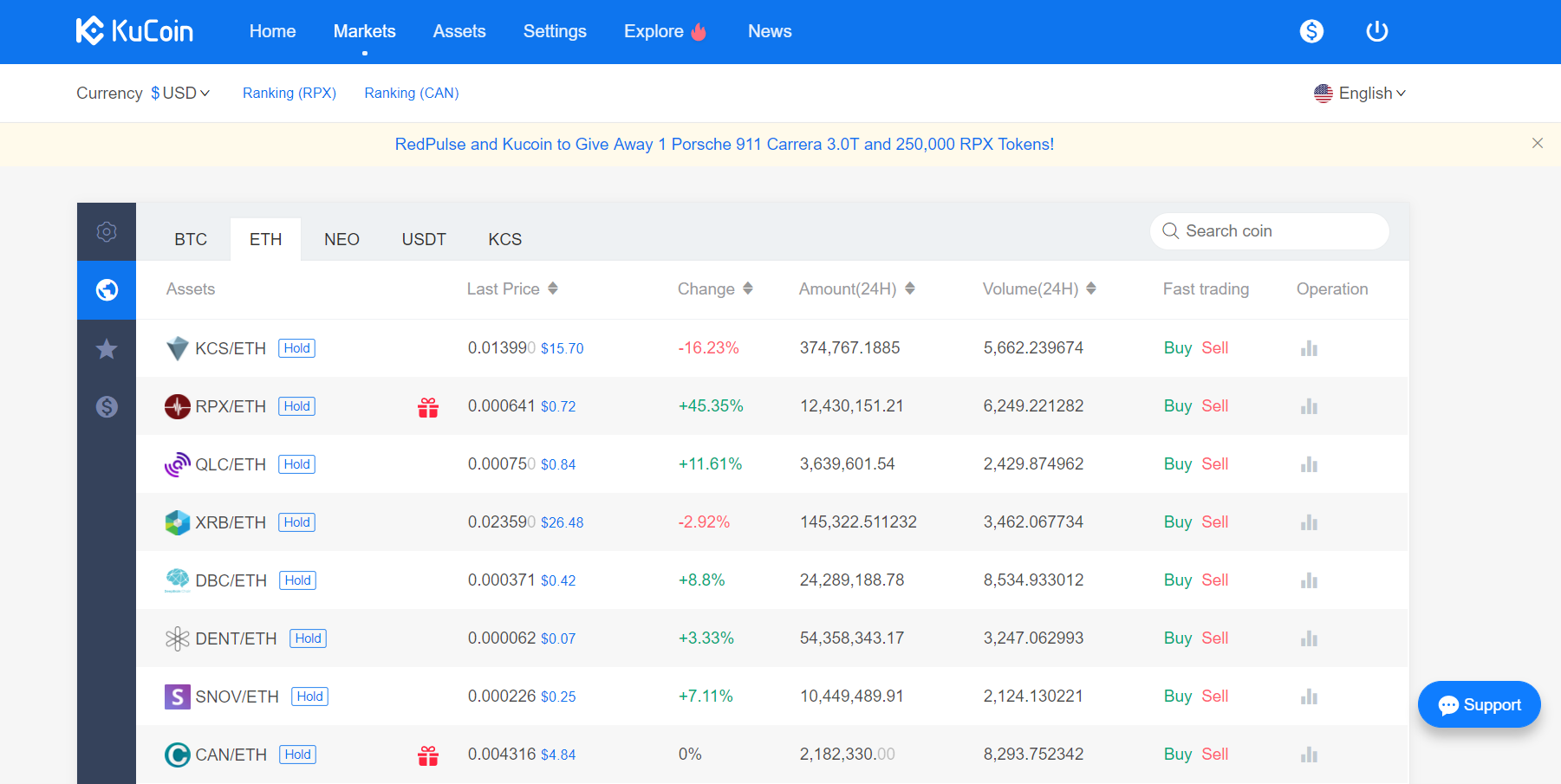 kucoin screen shot 1