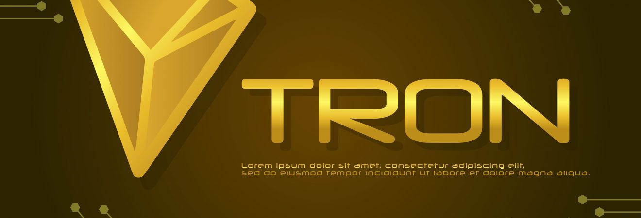 Tron blockchain design background collection