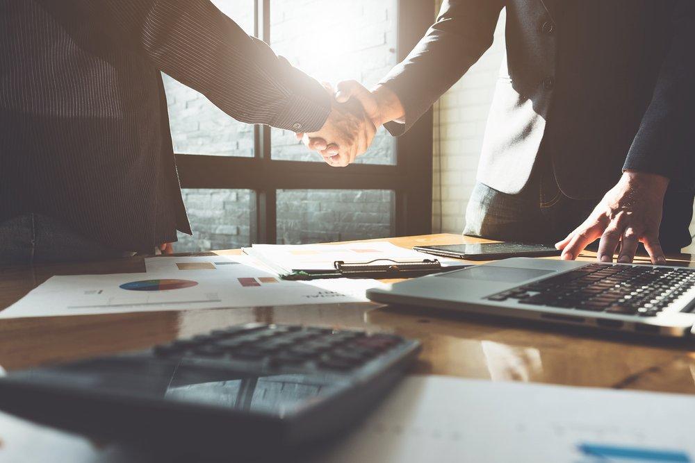 Business partnership meeting concept