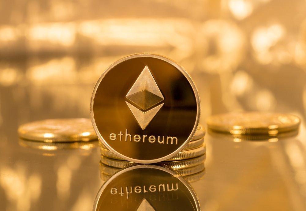 golden ethereum coin