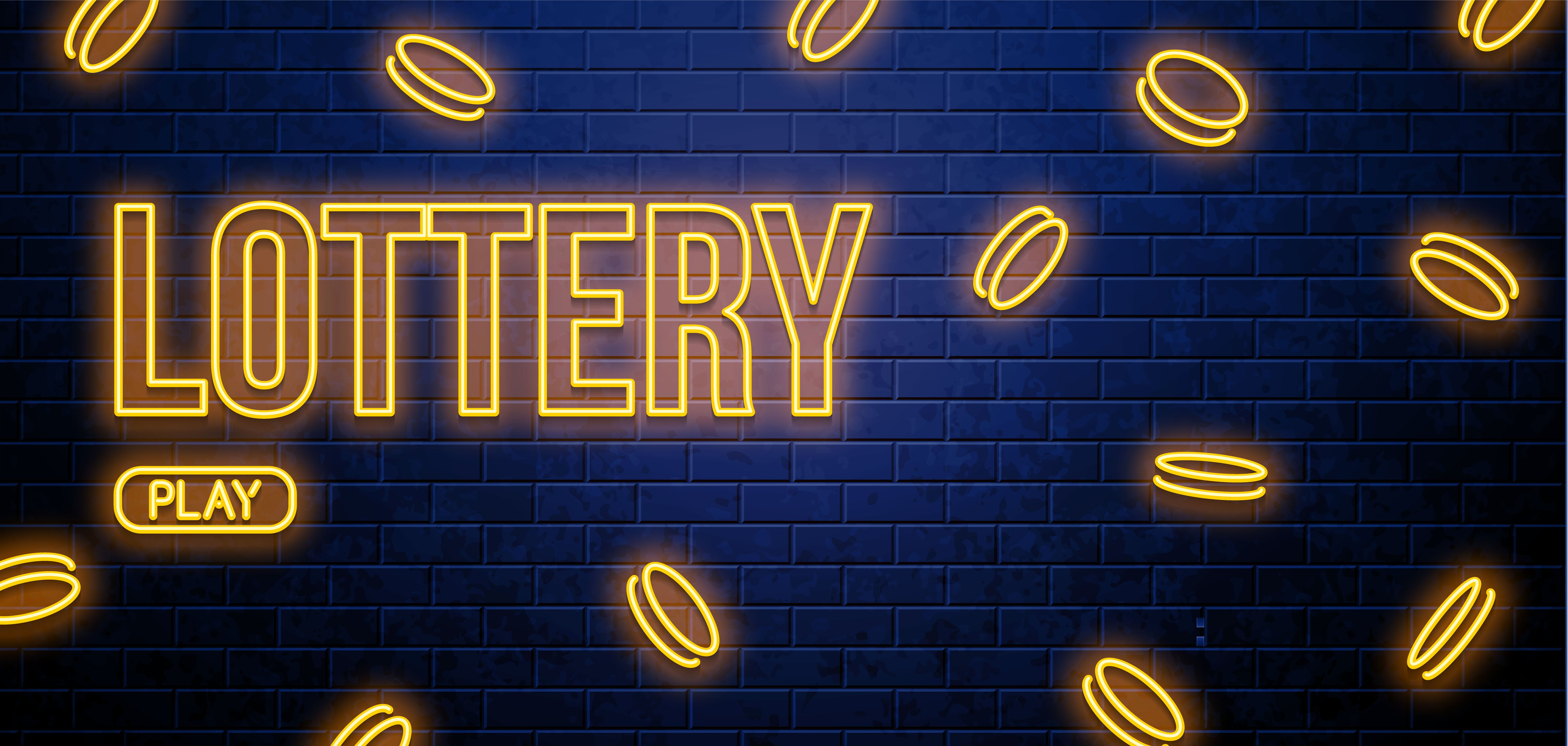 neon lottery sign