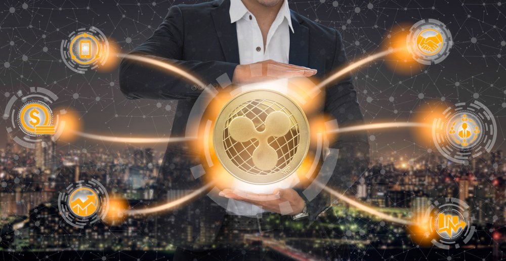 Ripple and cryptocurrency investing concept