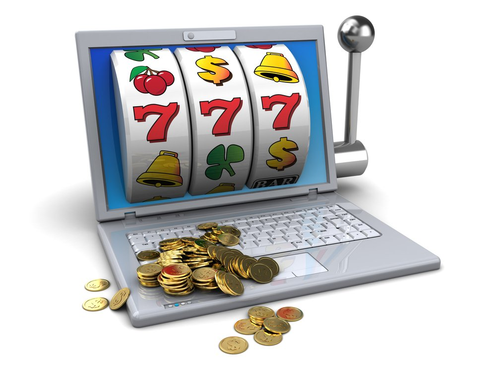 online slots displayed on laptop