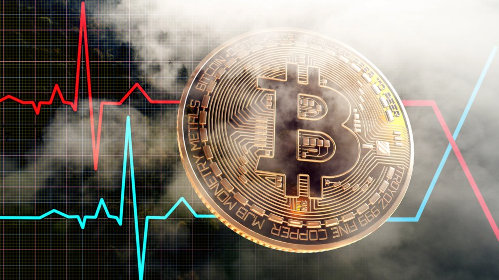 volatile bitcoin price concept
