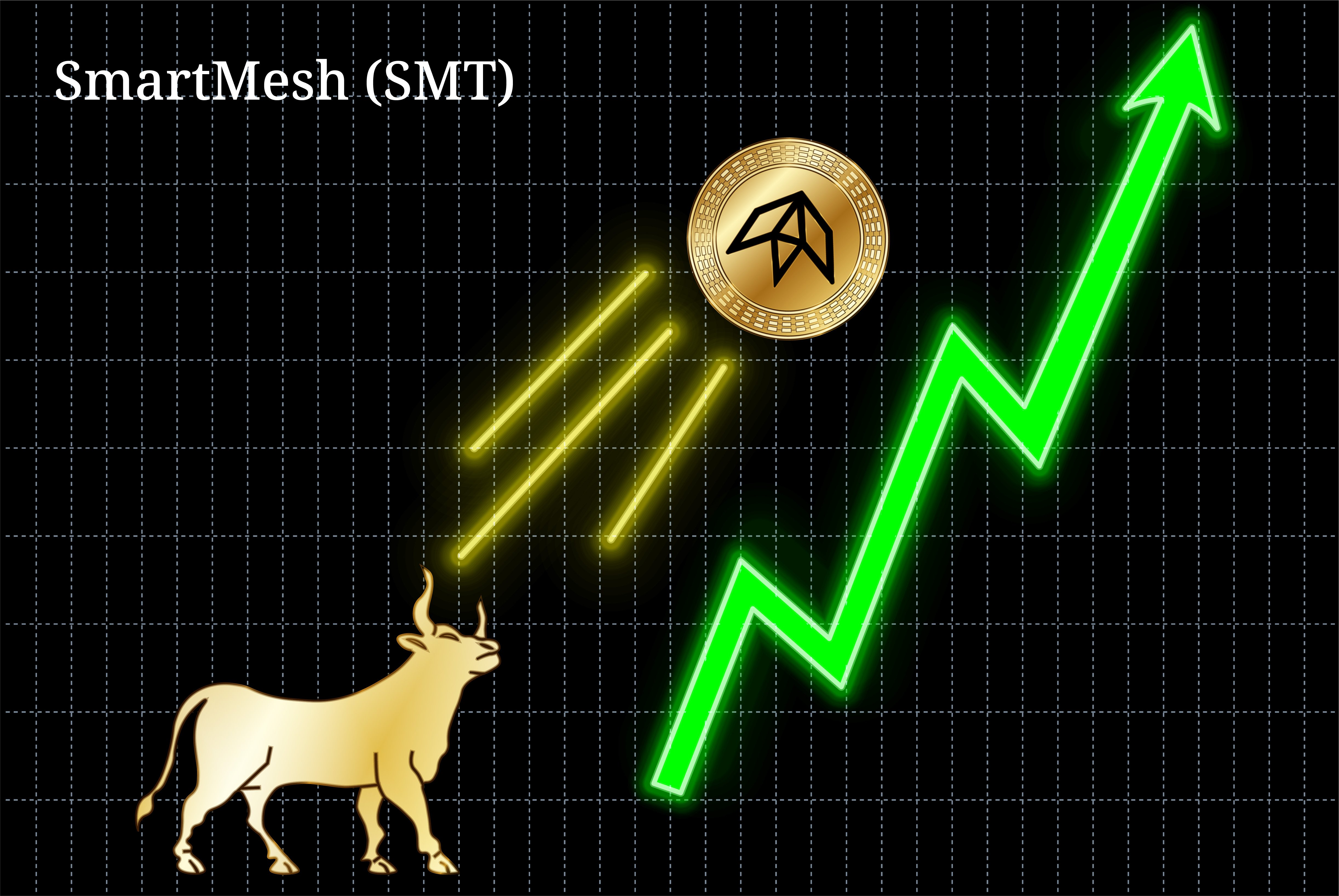 Gold bull throwing up SmartMesh