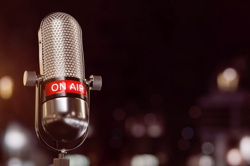 3D-Illustration On Air Microphone