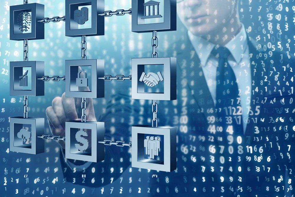 blockchain banking concept